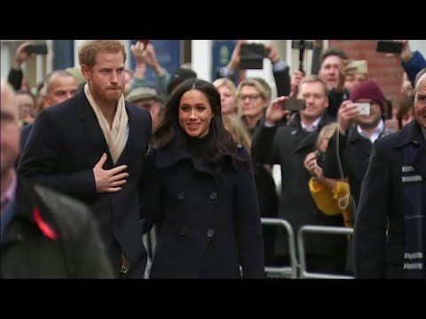 Harry and Meghan meet the public