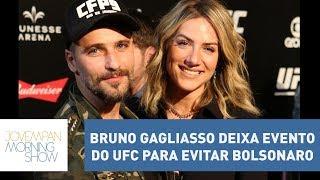Climão! Bruno Gagliasso deixa evento do UFC para evitar presença de Bolsonaro