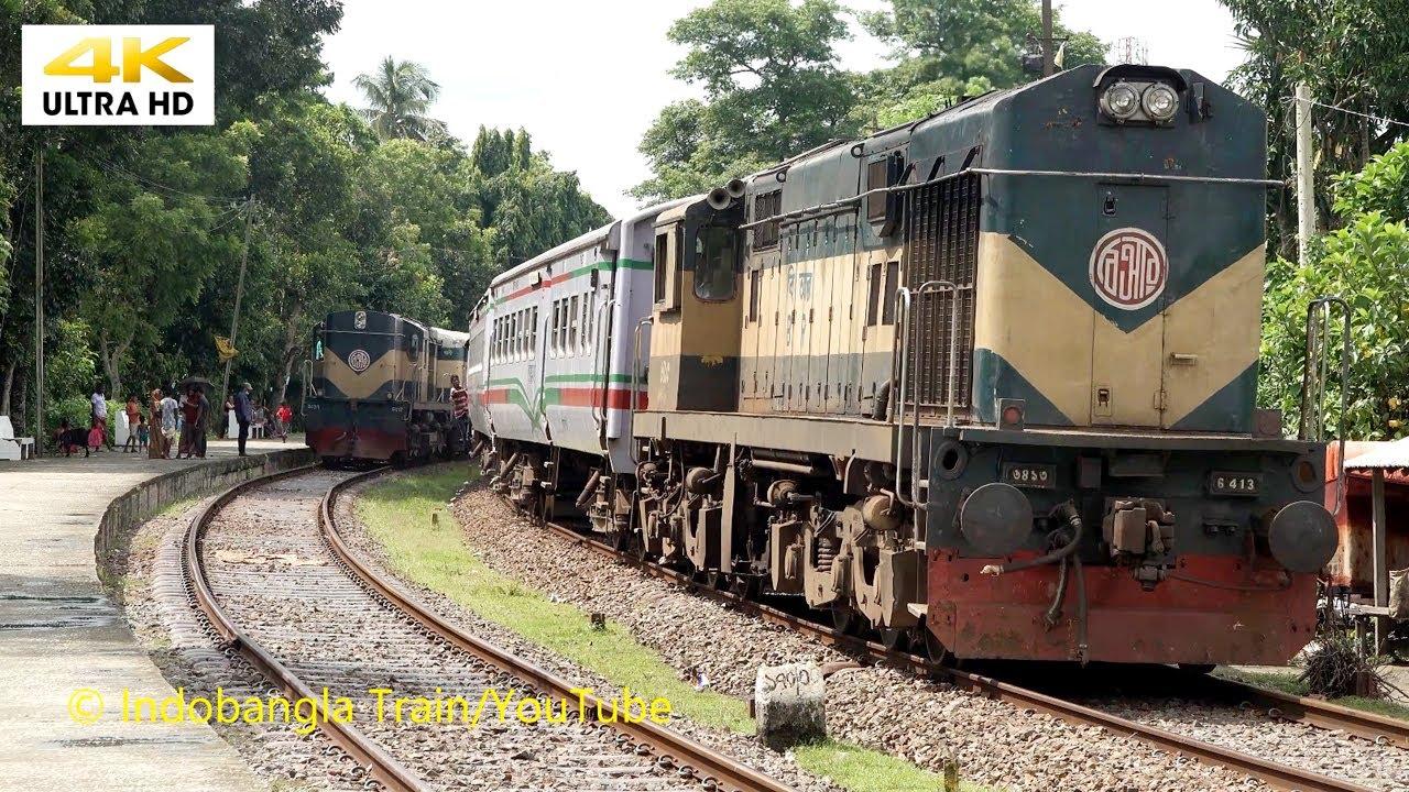 Crossing Rusha Express vs Madhumati Express at Poradah Junction । রুপসা বনাম মধুমতি এক্সপ্রেস