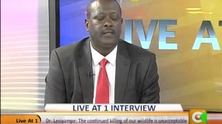 Live at One Interview with Dr.Richard Lesiyampe-PS,Environment