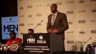 WLADIMIR KLITSCHKO v TYSON FURY - FULL FINAL PRESS CONFERENCE FROM DUSSELDORF (UNCUT)