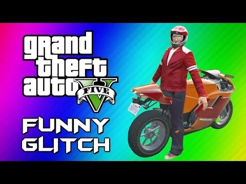 Thumbnail: GTA 5 Mannequin Glitch - Funny Character Animation, Motorcycles & Jets (GTA 5 Online Funny Moments)