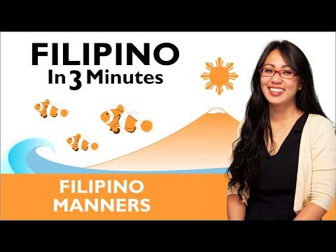 Learn Filipino - Filipino in Three Minutes - Filipino Manners