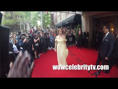 Jessica Chastain spotted Leaving The Mark Hotel for the Met Gala 2017