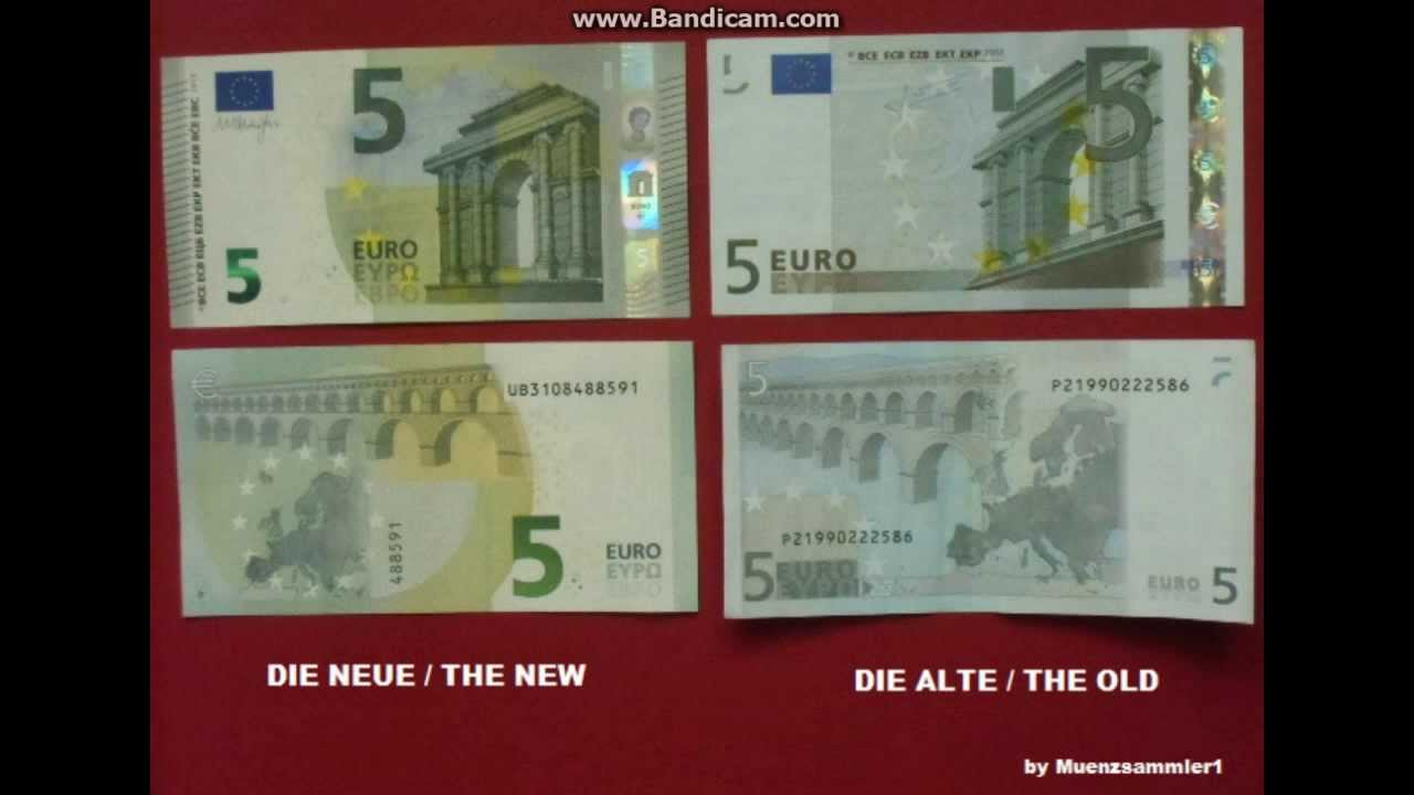 Die Neuen 5 Euro Scheine The New 5 Euro Bills Youtube