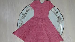 Платье из салфеток/Dress from napkins