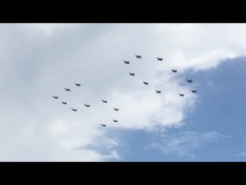 RSAF and TNI AU Fighter Jet Flypast - Rising 50 Indonesia - Singapore