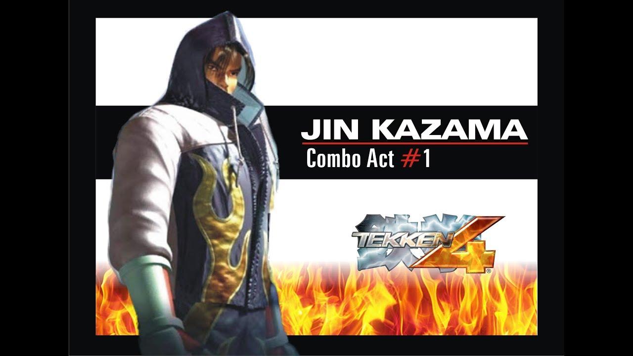 Jin Kazama Combo Act 1 Tekken 4 Youtube