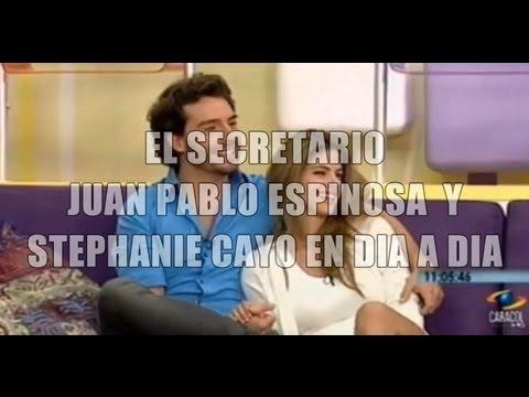 EL SECRETARIO - Juan Pablo Espinosa y Stephanie Cayo en Dia a Dia