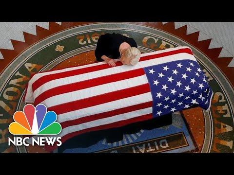Senator John McCain's Family Grieves As He Lies In State At Arizona Capitol | NBC News