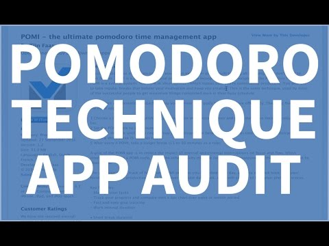 Pomodoro Technique App Walkthrough Audit - Bluecloud Solutions