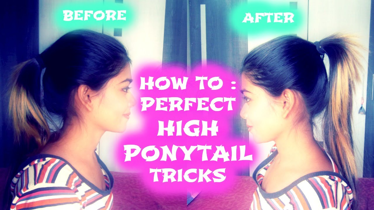 how to perfect high ponytail tricks youtube. Black Bedroom Furniture Sets. Home Design Ideas