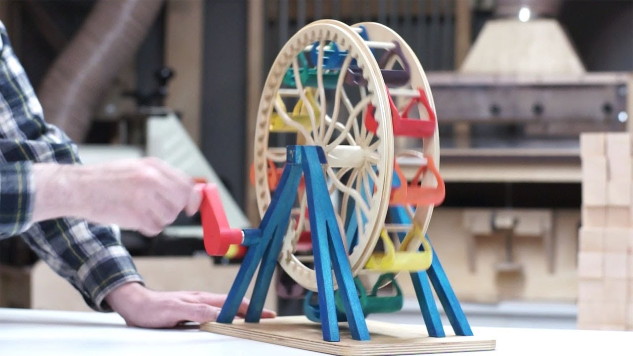 Building a Toy Ferris Wheel - YouTube