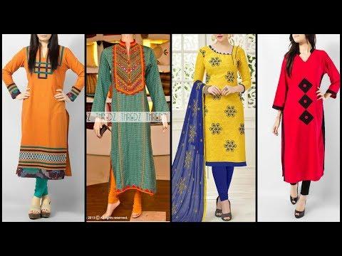 Top Trendy Kurta Design With Churidar Pajama Ideas Collection 2019-2020
