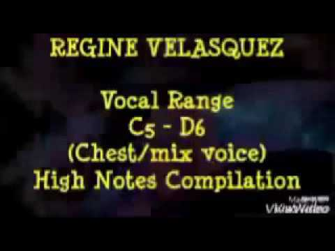 C5-D6 High Notes - Regine Velasquez - Vocal Range