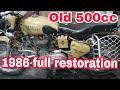 Old 500cc fullrestoration | 1986 500cc | ncr motorcycles | part-2 12/01/2019 |
