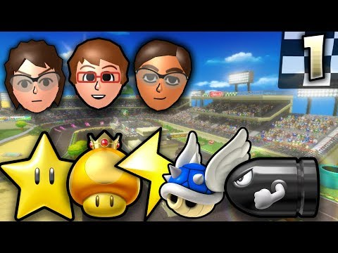 Mario Kart Wii - Troy vs Connor vs NMeade - ITEM RAIN Tournament (1/2)