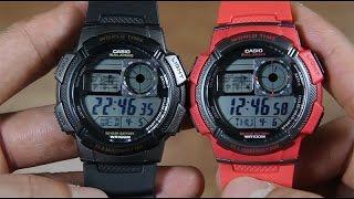 CASIO STANDARD AE-1000W-1AV VS AE-1000W-4AV