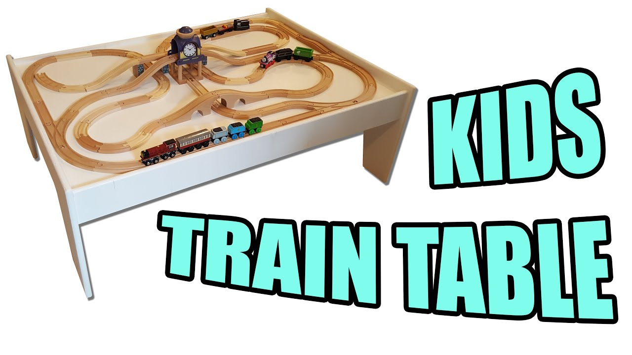 How to Make a Kids Train Table / Play table - YouTube