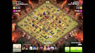 Clash Of Clans - 3 Stars Maxed TH10 - ZapQuake - Queen Healer LavaLoon Attack - 11