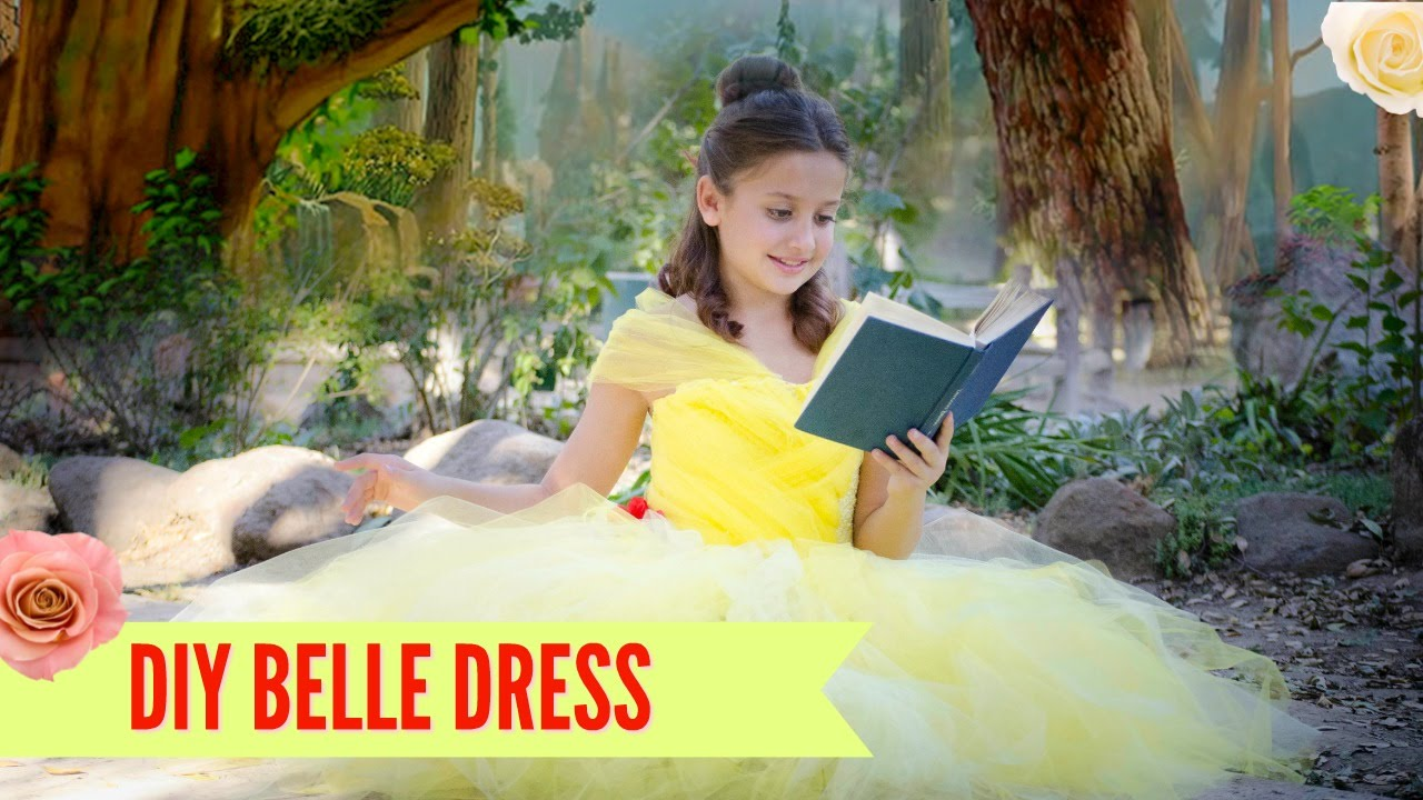 DIY Belle Beauty and the Beast Disney Costume TUTU - NO SEW - YouTube