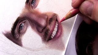 Drawing a Realistic Mouth and Teeth in Color Pencils
