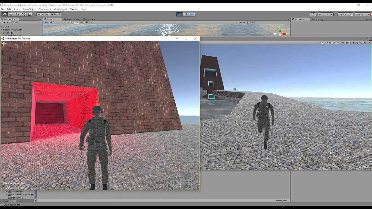 Unity3D Multiplayer FPS Test 1