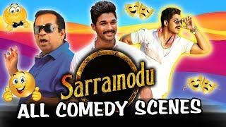 sarrainodu All Back To Back Comedy Scenes Hindi Dubbed | Allu Arjun, Brahmanandam, Catherine Tresa