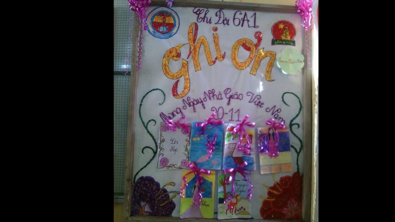 Báo tường THCS Hòa Mỹ – chào mừng ngày nhà giáo việt nam 20 -11