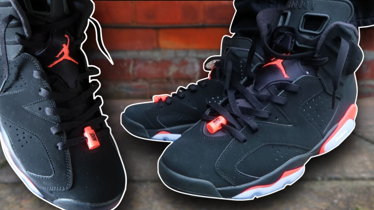 How To Lace Jordan 6's (w ON FEET) | Featuring 'Infrared 6s' (THE BEST WAY!)