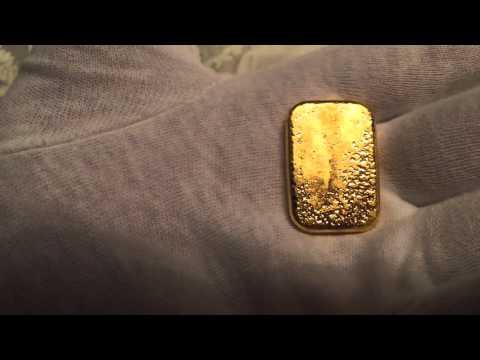 Valcambi Suisse 50 gram (1.608 Troy Ounces) Cast Poured Pure 24 K 999.9 Fine Gold Bar