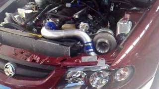 twin turbo ls1 stroker v8 exhaust removed