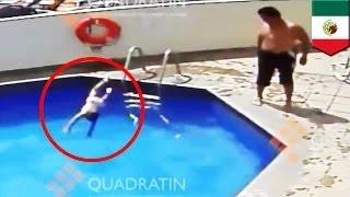 زوج الأم يرمي الإبنة البالغة ثلاثة أعةام في المسبح حتى تغرق