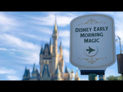 Early Morning Magic At Disney's Magic Kingdom!