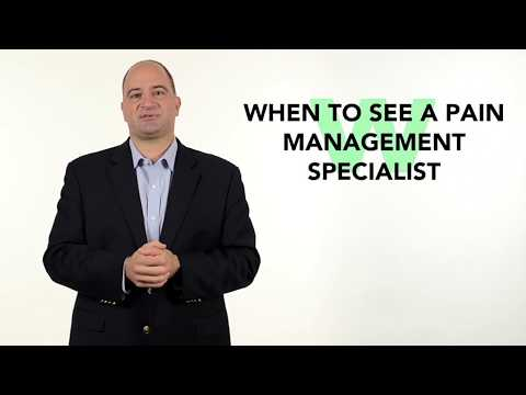 When to See a Pain Management Specialist
