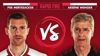 Download Video WHO DOESN'T PER WANT TO FIGHT? Mertesacker v Wenger   Emirates Rapid Fire MP3 3GP MP4