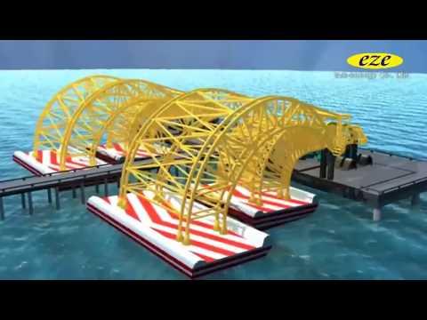 Ocean wave tidal energy harnessing in various methods