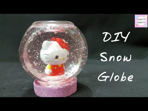 How to make Snow globe/DIY Snow Globe