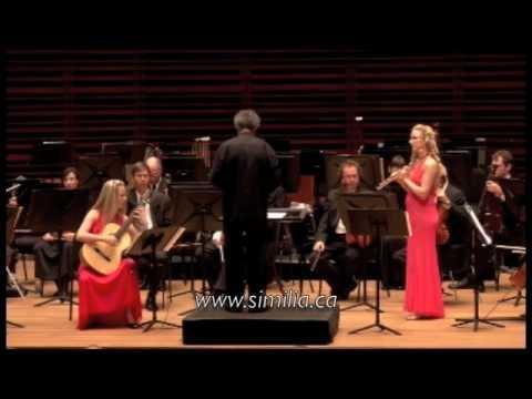 Similia:Concerto tradicionuevo 1 (Part 2) P.Roux, Nadia Labrie flute and Annie Labrie guitar