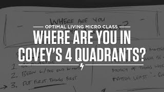 Where are you in Covey's 4 Quadrants? Thumbnail