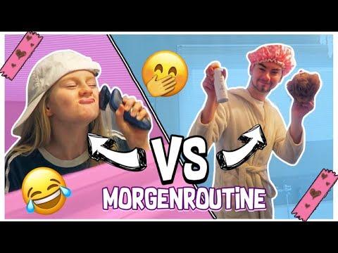 Morgenroutine Boys VS Girls Rollentausch | MaVie Noelle