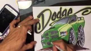 How to draw a Dodge Ram SRT10 - TUTORIAL