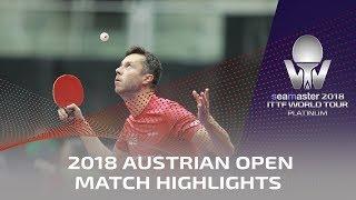 Zhou Qihao vs Vladimir Samsonov | 2018 ITTF Austrian Open Highlights (Pre)