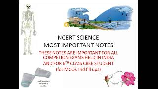 ncert class 6 science all important topics in hinglish