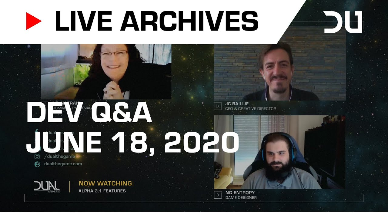Dual Universe - Live Developer Q&A | June 18, 2020