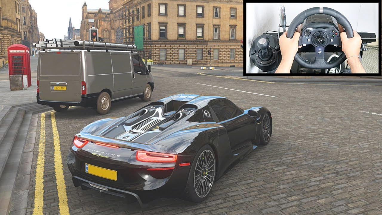 Forza Horizon 4 Porsche 918 Spyder (Steering Wheel + Paddle Shifter) Gameplay thumbnail