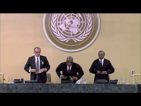 WorldLeadersTV: PRESIDENT NELSON MANDELA of SOUTH AFRICA HONOURED by UNITED NATIONS