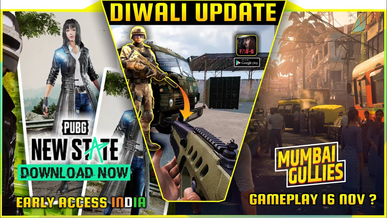Download FAU-G   FAUG New Update   Pubg new state launch trailer with release date   Mumbai Gullies Gameplay