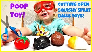 CUTTING OPEN SPLAT BALLS - WHATS INSIDE THESE SQUISHY TOYS KIDS