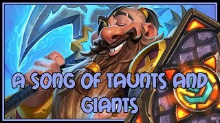 A song of taunts and giants   Taunt druid   The Witchwood   Hearthstone